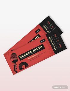 Music Concert Event Ticket Template Music Tickets, Concert Tickets, Concert Ticket Template, Event Tickets, Ticket Design, Event Website, Event Guide, Event Branding, Leaflets