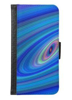Blue space samsung galaxy s6 wallet case $29.80