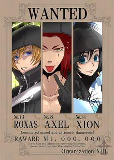 Roxas, Axel, Xion