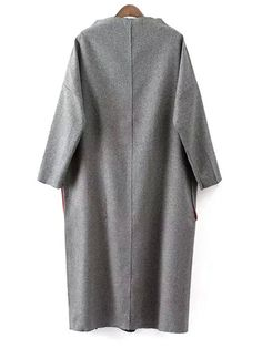 Half-Collar Big Pocket Gray Dress - GRAY ONE SIZE(FIT SIZE XS TO M) Mobile