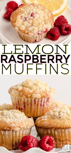 May 2020 - Lemon Raspberry Muffins with a light lemon flavor, filled with fresh raspberries and then topped with a sweet buttery streusel topping. These muffins are perfect for breakfast or a sweet snack any time of the day! Lemon Raspberry Muffins, Lemon Muffins, Baking Muffins, Raspberry Breakfast, Recipe For Muffins, Fresh Raspberry Recipes, Simple Muffin Recipe, Healthy Muffin Recipes, Healthy Muffins