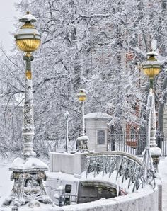 Winter time in St. Petersburg. For some reason, when I saw this, I immediately thought of Narnia...