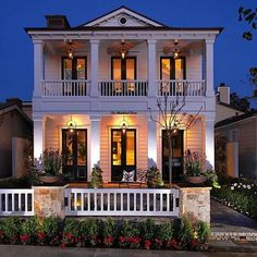 Beautiful classic American home. Rails and archetraves