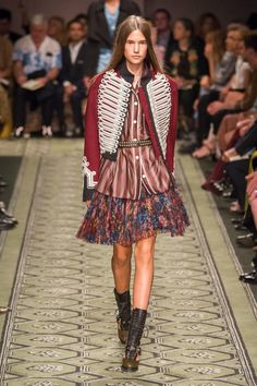 Burberry September 2016 | super fab bohemian update. Jacket makes the look.