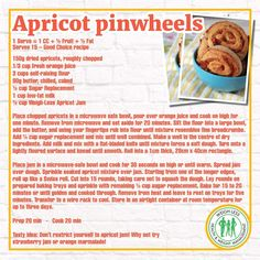 Healthy Life, Healthy Eating, Dried Apricots, Healthy Recipes, Healthy Dinners, Pinwheels, Sweet Treats, Recipies, Brunch