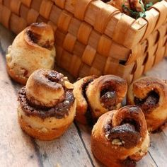 Nutella Rose Buds buns
