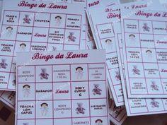 brincadeiras para chá de bebê bingo personalizado