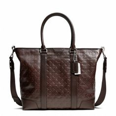 BLEECKER BUSINESS TOTE IN OP ART EMBOSSED LEATHER - <h1><b>Features</b></h1>