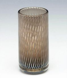 "NANNY STILL - Glass vase ""Tohveli"" 6437 for Riihimäen Lasi Oy 1958, Finland.   [h. 16,5 cm] Glass Design, Design Art, Alvar Aalto, Lassi, Finland, Modern Contemporary, Glass Art, Retro Vintage, Perfume Bottles"