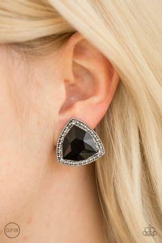 40eafc125 Daringly Duchess - Black Clip-On. Paparazzi FashionPaparazzi JewelryBlack  ...