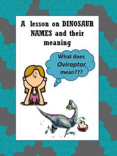 A fun lesson on dinosaur names and their meaning! It can also be used as an activity on prefixes and suffixes.