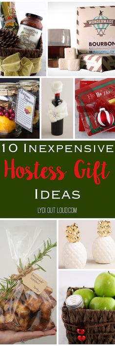 Simple and elegant hostess gift ideas - perfect for holiday parties and visits!