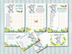 Elephant Baby Shower Games Jungle Baby Shower by tranquillina, DIY Baby Shower, Ideas, Planning, Safari Baby Shower, Printables, Baby Boy