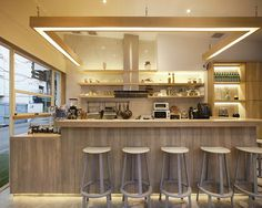 party space design creates a simple common room cafe in bangkok