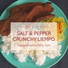 Crunchy Salt and Pepper Liempo - Happy Pinay Mommy Easy Filipino Recipes, Filipino Food, Oil For Deep Frying, Cooking Oil, Veggie Dishes, Super Simple, Salt And Pepper, Quick Easy Meals, Homemaking
