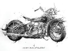 Exceptional Harley davidson motorcycles photos are readily available on our internet site. Pinstriping, Harley Knucklehead, Tattoo Stencils, Motorcycle Art, Lowbrow Art, Amazing Drawings, Tattoo Drawings, Art Drawings, Artsy Fartsy