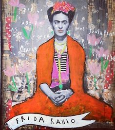 I was first introduced to Frida in Paris - through a book on a shelf in a tiny room with no light. I was 19. I've loved her ever since...