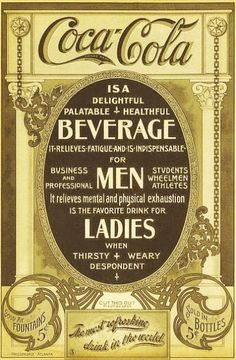 1910 poster = Coca Cola promised this was a 'healthful' drink ! ( When original. - 1910 poster = Coca Cola promised this was a 'healthful' drink ! ( When original recipe was per - Coke Ad, Coca Cola Ad, Always Coca Cola, Pepsi, Old Advertisements, Retro Advertising, Retro Ads, Advertising History, Sodas