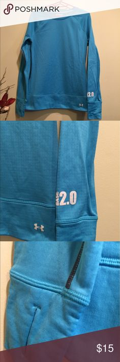 Under Armour fitted blue shirt Size medium and in great condition! It is fitted Under Armour Tops Sweatshirts & Hoodies