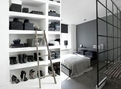 I like the deep gray on the bedroom wall. Seams very calming even though it is darker. Bedroom is perfect place for dark colors.