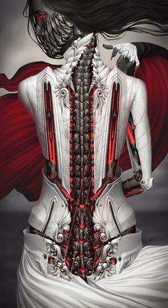 peisinoe - Illustrations by Alexander Fedosov Dark Fantasy Art, Fantasy Artwork, Dark Art, 3d Artwork, Arte Cyberpunk, Arte Horror, Horror Art, Art Conceptual, Arte Robot