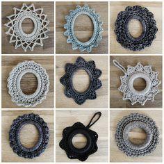 Cute crochet frames For more crochet projects visit: mudeno.com