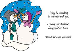 Pregnant Snow Person Holiday Card
