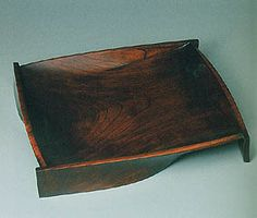 Vessel of zelkova wood finished in wiped lacquer.