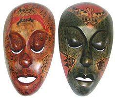 I have a set of these masks....aren't they beautiful?....the green mask is one of my favorites...