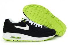 the best attitude 4a47f 77baa Acquisto nike maschili air max 1 scarpe da corsa nere bianche verdi online  prezzi