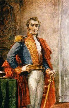 Antonio Nariño, 1765-1823. Acuarela de Ricardo Acevedo Bernal Jockey Club, Bogotá