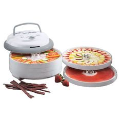 Expandable 5-tray food and jerky dehydrator with an adjustable thermostat.   Product: Food dehydrator Construction ...