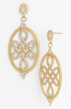 Freida Rothman Love Knot Drop Earrings available at #Nordstrom
