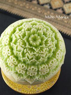 melon carving.