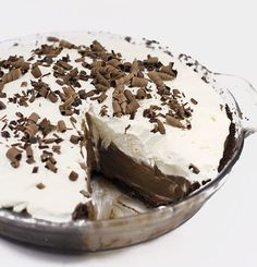 Chocolate Cream Pie Rich taste of chocolate in this pie is the perfect summer treat.