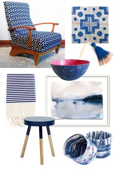Navy and white fouta towel from Izzy and Jean Co. featured on Cush and Nooks blog.