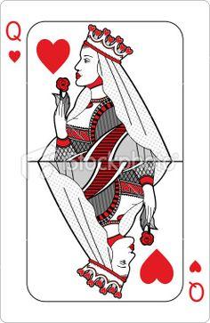 Queen of hearts. Royalty Free Stock Vector Art Illustration