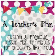 Custom Lesson Plan Templates...love them