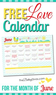 This is so cool! A printable calendar with a little love assignment every day. It even has links to date ideas and romance tips. www.TheDatingDivas.com