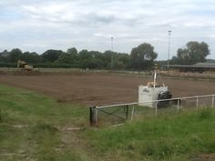 16 July 2014 - The turf is removed before the 3G pitch is laid turning SJP into a real community asset and one that will engage a wide section of the local populace.