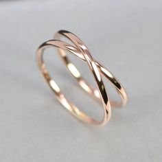 14K Rose Gold Infinity Ring this by seababejewelry