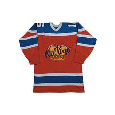 Edmonton Oil Kings Defunct Team Hockey Jersey Stitch Sewn New Hockey Sweater, Jersey Uniform, Ice Hockey Jersey, Kings Hockey, Sports Team Logos, Custom Made, Tv Shows, Mens Fashion, Stitch
