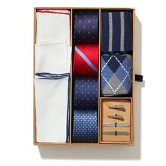 Most if my ties, pocket squares, tie bars and cuff links are from The Tie Bar. Great quality and even better prices. Tie Gift Box, Tie Crafts, Men's Fashion Brands, Fashion Tips, Fashion Ideas, Fashion Beauty, Perfect Gift For Him, Men Style Tips, Gifts For Father