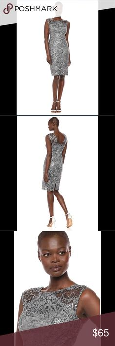 345dfee5af25 Ignite Women's Sequined Lace Short Dress,grey,NWT About this item 100%  Polyester