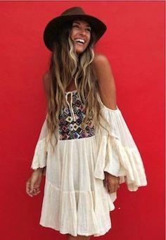 #boho dress - via itsa-gypsyjungle