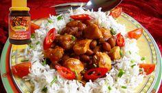 Surinaams eten – B. B. R. Kip en Masterbeef (bruine bonen met rijst, kip en Masterbeef)