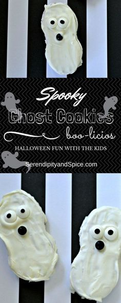 Spooky Ghost Halloween Cookies - Semi Homemade cookies that are so much fun to make with the kids! Serendipity and Spice