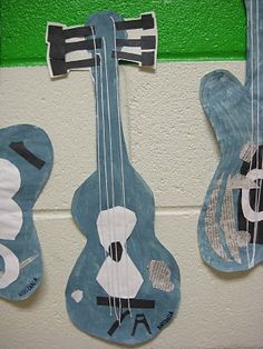 grade learned all about Pablo Picasso - we focused especially on his blue period and his images of guitars and other musical instr. Picasso Blue, Picasso Art, Pablo Picasso, Projects For Kids, Art Projects, Easy Art For Kids, 2nd Grade Art, Artists For Kids, Art Lessons Elementary