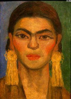 Portrait de Frida Kahlo. Peinture de l'artiste mexicain Diego Rivera -1939-