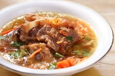 Warm oxtail and barley soup for the whole family to enjoy.